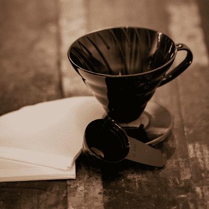 Transparent black v60