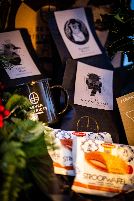 Coffee gift box with 3 bags, a mug & v60