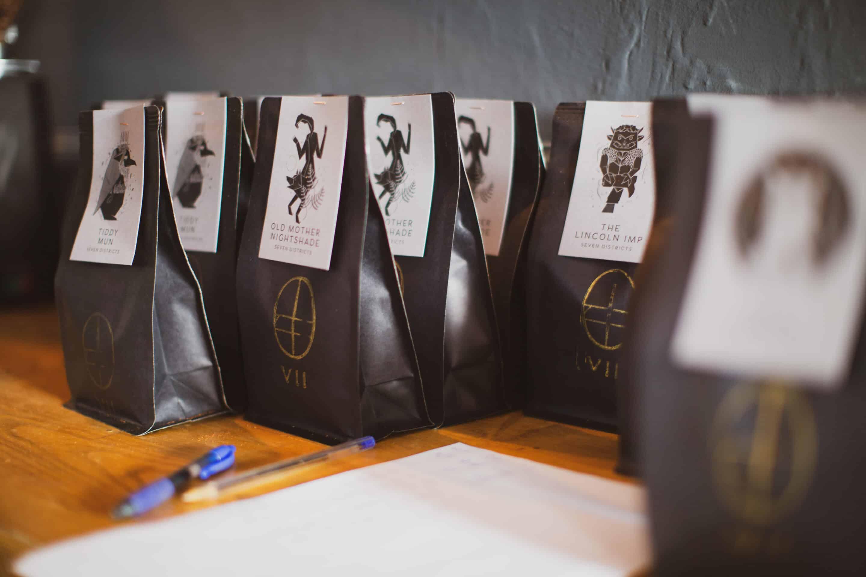 Coffee bag production