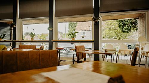 Seats at the coffee hub in Nettleham
