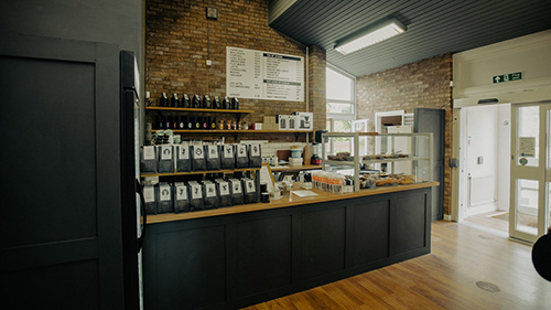 Counter at Seven Districts Coffee hub